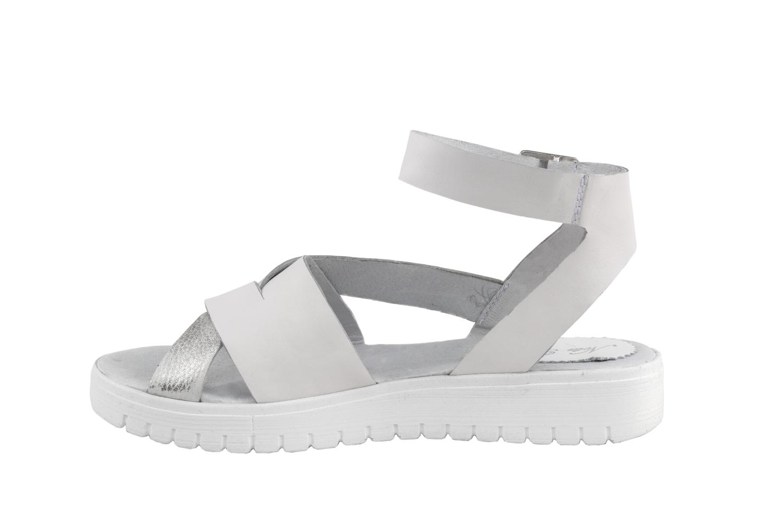 dad705cd8b4 Дамски ежедневни сандали от естествена кожа в черен и бял цвят - 64.99лв
