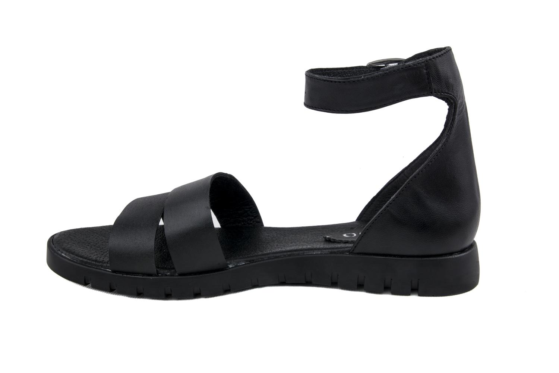 5a6fb49bba9 Дамски ежедневни сандали от естествена кожа в черен цвят - 64.99лв