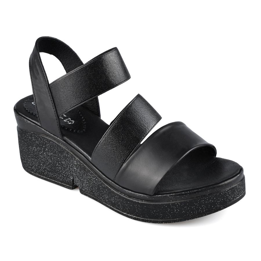4120b33ea5f Дамски ежедневни сандали от естествена кожа в черен цвят - 75.99лв