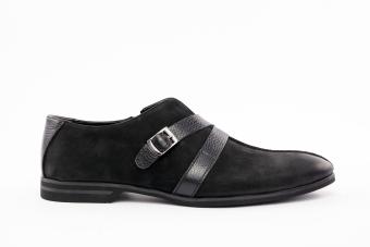 Мъжки спортно-елегантни обувки от естествен набук