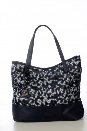 Дамска ежедневна чанта с дантела