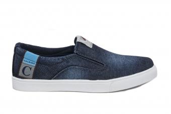 Мъжки спортни обувки от дънков материал
