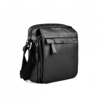 Мъжка ежедневна чанта от естествена кожа