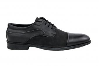 Мъжки елегантни обувки от естествена кожа и естествен набук