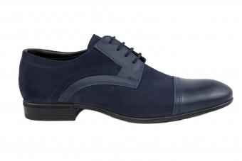 Мъжки елегантни обувки от естествена кожа и велур