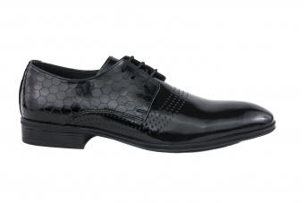 Мъжки елегантни обувки от естествен лак