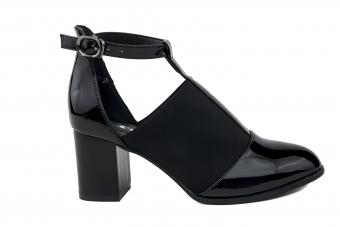 Дамски елегантни обувки от еко кожа и лак