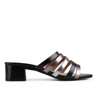 Дамски елегантни чехли от еко кожа