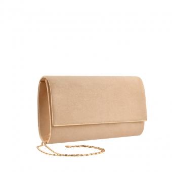 Дамска елегантна чанта бежова