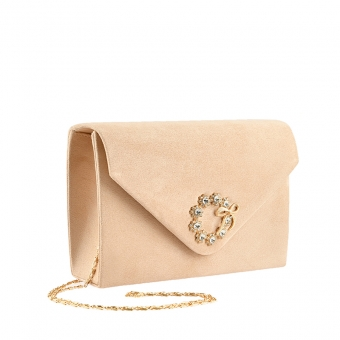 Дамскa елегантна чанта бежова