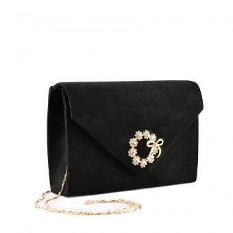 Дамскa елегантна чанта черна