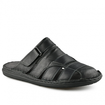 Мъжки ежедневни чехли от естествена кожа