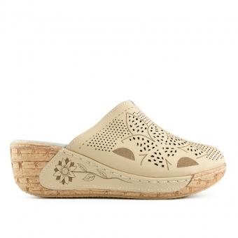 Дамски ежедневни чехли от естествена кожа