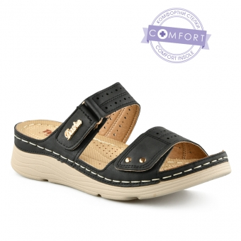 Дамски ежедневни чехли от еко кожа