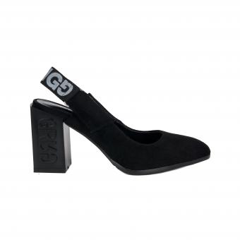 Дамски елегантни сандали от велур
