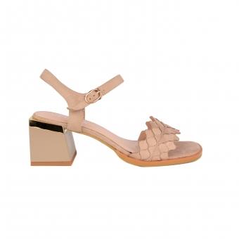 Дамски елегантни сандали от еко набук