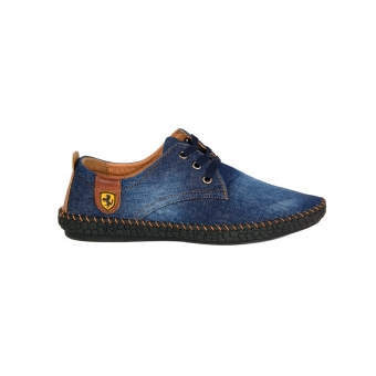 Мъжки ежедневни обувки от дънков плат