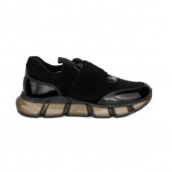 Дамски спортни обувки от естествен велур и кожа