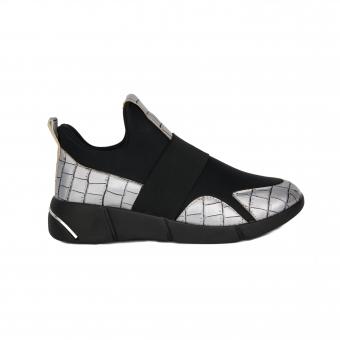 Дамски спортни обувки от еко кожа и текстил