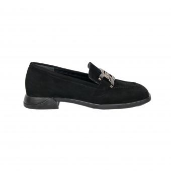 Дамски елегантни обувки от естествен велур