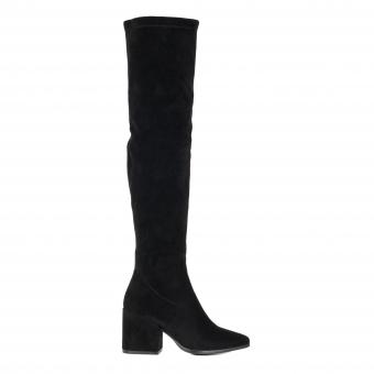 Дамски елегантни чизми от велур